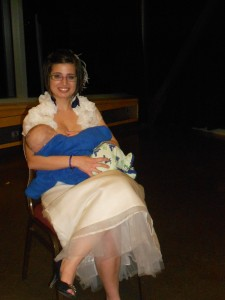 Photo prise lors de notre mariage le 14 octobre 2012. Laurent était âgé de 4 mois.