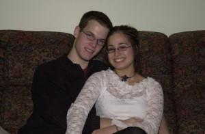 Marie et moi en 2005.
