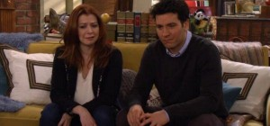 Lily et Ted dans la série How I Met Your Mother