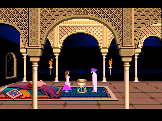 Le sablier dans l'introduction de Prince of Persia (Brøderbund Software, 1989)