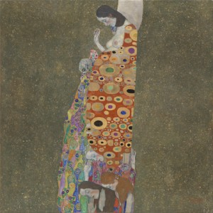 Oeuvre Hope II par Gustave Klimt. Source : http://www.moma.org/collection/object.php?object_id=79792