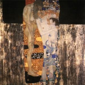 Les trois âges d'une femme par Gustave Klimt (1905). Source : http://www.klimt.com/en/gallery/women/klimt-die-drei-lebensalter-der-frau-1905.ihtml