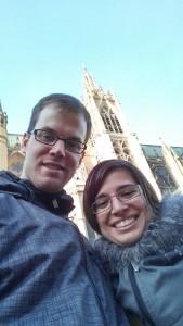 Selfie devant la cathédrale Sainte-Étienne de Metz