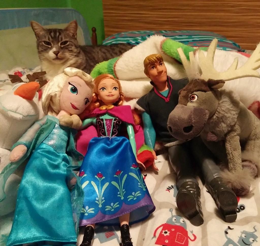 Les personnages de La reine des neiges (Frozen, Chris Buck et Jennifer Lee, 2013).